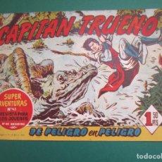 Tebeos: CAPITAN TRUENO, EL (1956, BRUGUERA) 84 · 12-V-1958 · DE PELIGRO EN PELIGRO. Lote 159666226