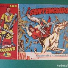 Tebeos: CAPITAN TRUENO, EL (1956, BRUGUERA) 20 · 15-II-1957 · ¡SENTENCIADOS!. Lote 159750874