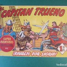 Tebeos: CAPITAN TRUENO, EL (1956, BRUGUERA) 59 · 18-XI-1957 · RIVALES POR SIGRID. Lote 159755866