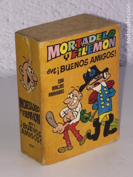 MINI INFANCIA BRUGUERA - MORTADELO Y FILEMON EN BUENOS AMIGOS , Nº 100 - 1ª EDICION 1971 (Tebeos y Comics - Bruguera - Otros)