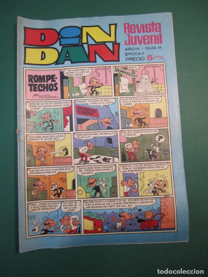 DIN DAN (1968, BRUGUERA) -EPOCA II- 36 · 21-X-1968 · DIN DAN (Tebeos y Comics - Bruguera - Din Dan)