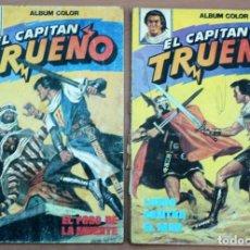 Tebeos: LOTE DE 2 CÓMICS EL CAPITÁN TRUENO - ÁLBUM COLOR. Lote 161091802
