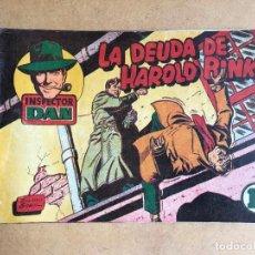 Tebeos: INSPECTOR DAN Nº 9 BRUGUERA 1951 - ORIGINAL COMO NUEVO. Lote 161295594