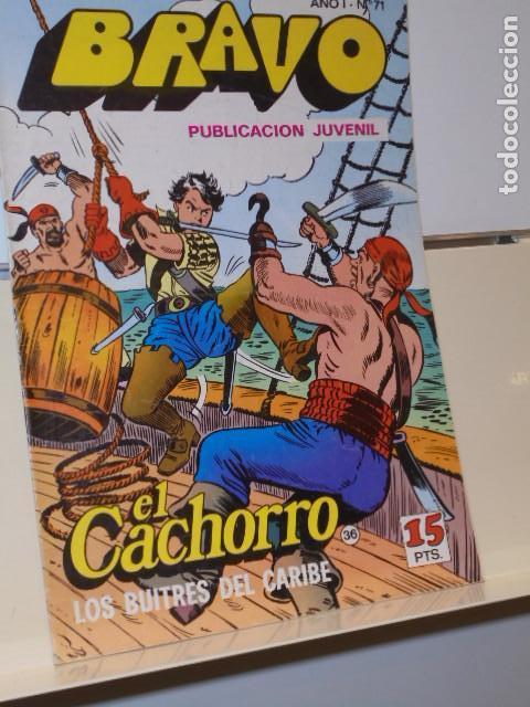 BRAVO AÑO 1 Nº 71 EL CACHORRO Nº 36 LOS BUITRES DEL CARIBE - BRUGUERA - (Tebeos y Comics - Bruguera - Bravo)
