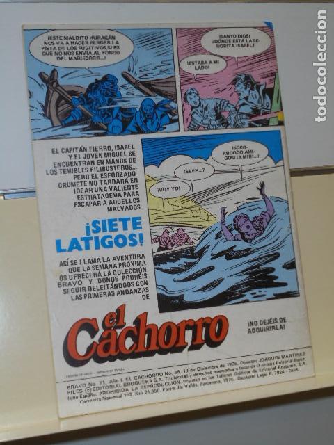 Tebeos: BRAVO AÑO 1 Nº 71 EL CACHORRO Nº 36 LOS BUITRES DEL CARIBE - BRUGUERA - - Foto 2 - 161402962