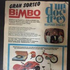 Tebeos: REVISTA JUVENIL MORTADELO AÑO 1976 CON PUBLICIDAD DE UN DOS TRES RESPONDA OTRA VEZ . Lote 161506538