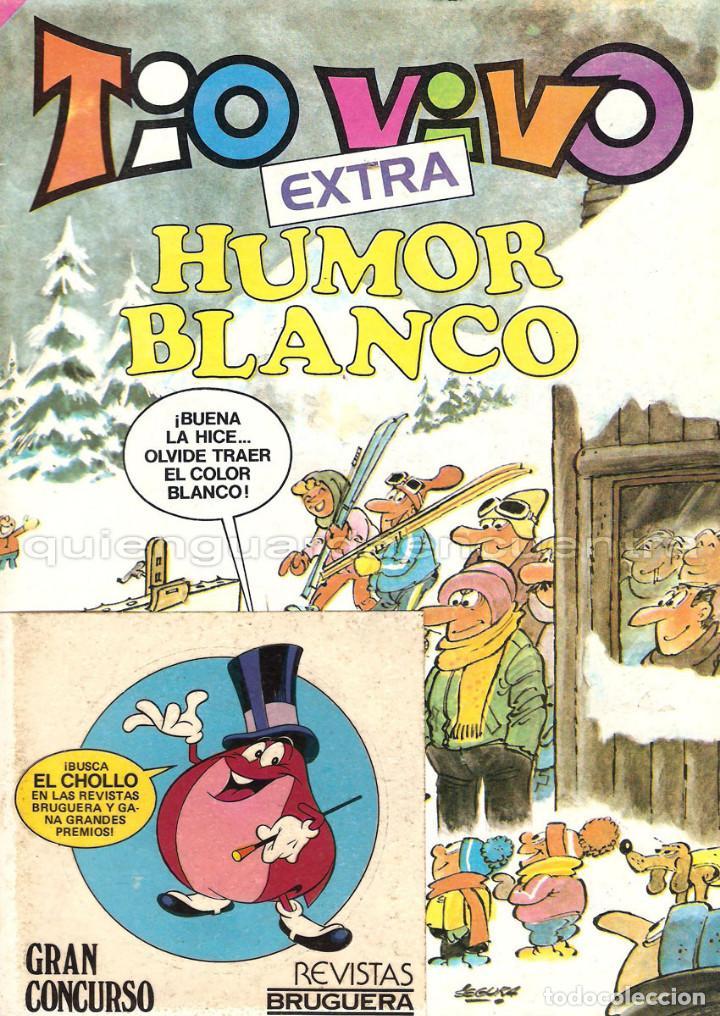 BRUGUERA TIO VIVO EXTRA NUMERO 75 HUMOR BLANCO CON ADHESIVOS 1985 2ª ÉPOCA NUEVO (Tebeos y Comics - Bruguera - Tio Vivo)