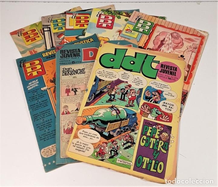 Tebeos: REVISTA JUVENIL DDT. 8 EJEM. EDIT. BRUGUERA. BARCELONA. 1953/1974. - Foto 4 - 161746158
