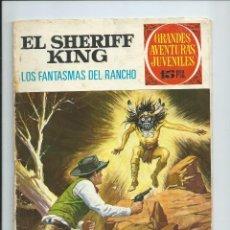 Tebeos: EL SHERIFF KING (GRANDES AVENTURAS JUVENILES Nº 10). LOS FANTASMAS DEL RANCHO. BRUGUERA 1971. Lote 162015298