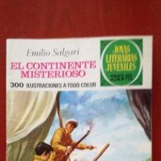 Tebeos: JOYAS LITERARIAS JUVENILES N°174 EL CONTINENTE MISTERIOSO. Lote 162103912