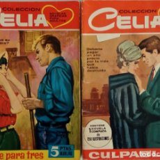Tebeos: COLECCIÓN CELIA Nº 140, 302 - ROMANCE PARA TRES Y CULPABLE. Lote 162141442