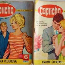 Tebeos: COLECCIÓN CAPRICHO Nº 81, 106 - AVENTURA PELIGROSA Y AMAME SIEMPRE. Lote 162143246