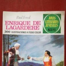 Tebeos: JOYAS LITERARIAS JUVENILES N°27 ENRIQUE DE LAGARDERE. Lote 162151038