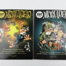 Tebeos: MORTADELO TOP COMIC NUMEROS 1 Y 2 EDICIONES B. Lote 162358182