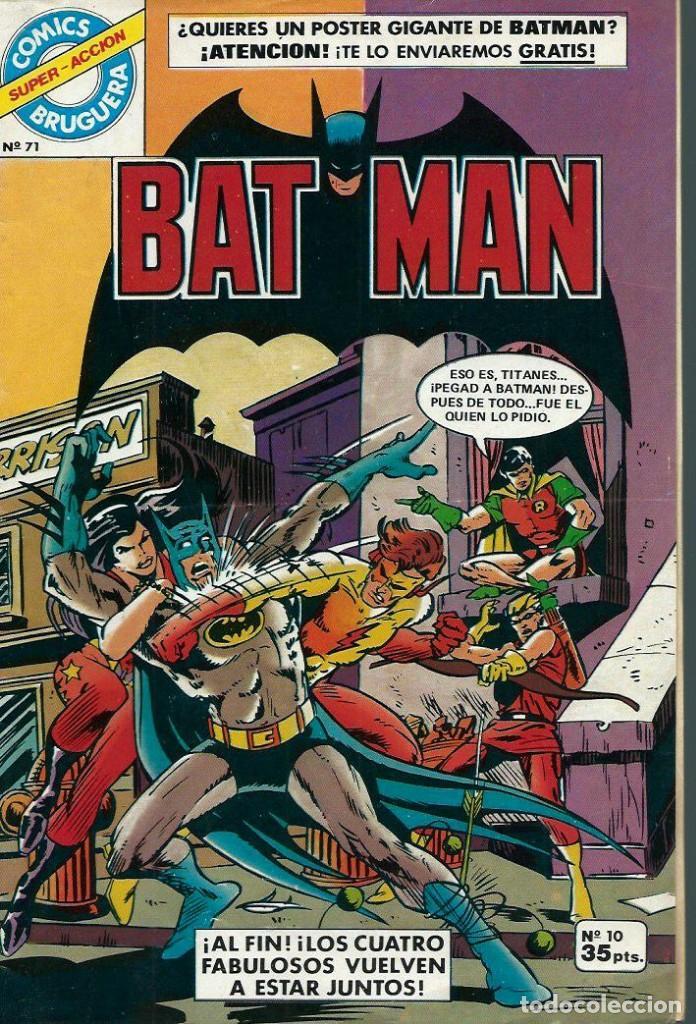 BATMAN Nº 10 - COLECCION COMICS BRUGUERA SUPER ACCION Nº 71 - BRUGUERA 1979 (Tebeos y Comics - Bruguera - Otros)