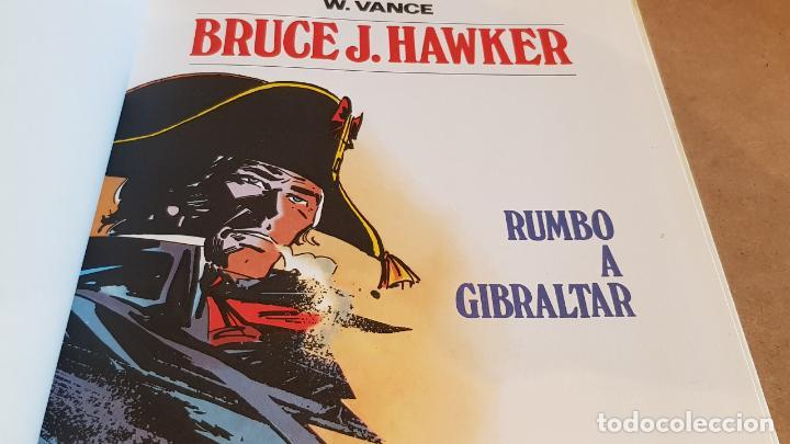 Tebeos: BRUCE J. HAWKER / RUMBO A GIBRALTAR / W.VANCE / ED: BRUGUERA-1983 / 1ª EDICIÓN / TAPA DURA. - Foto 2 - 162400110
