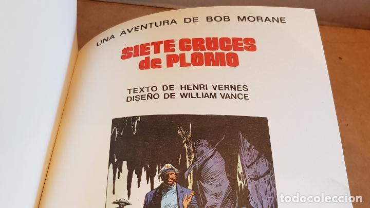 Tebeos: BOB MORANE / SIETE CRUCES DE PLOMO / HENRI VERNES-W. VANCE / ED: BRUGUERA / 1ª EDICIÓN. - Foto 2 - 162400590