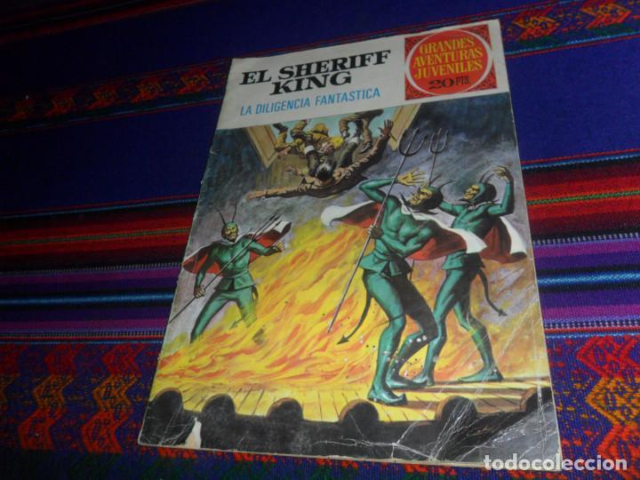 EL SHERIFF KING Nº 64 LA DILIGENCIA FANTASMA. BRUGUERA 1975. REGALO EL REY DEL RÍO Nº 51. (Tebeos y Comics - Bruguera - Sheriff King)