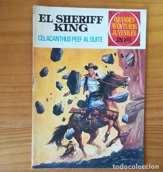 EL SHERIFF KING 71 CELACANTHUS PEEF AL QUITE. GRANDES AVENTURAS JUVENILES BRUGUERA 1975 (Tebeos y Comics - Bruguera - Sheriff King)