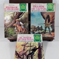 Tebeos: JOYAS LITERARIAS JUVENILES. 9 EJEMPLARES. EDIT. BRUGUERA. BARCELONA. 1974/75.. Lote 163004922