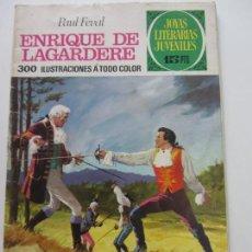 Tebeos: JOYAS LITERARIAS JUVENILES Nº 27 - ENRIQUE DE LAGARDERE BRUGUERA 1971 1ª EDI LABERINTO ROJO C9X3. Lote 164854578