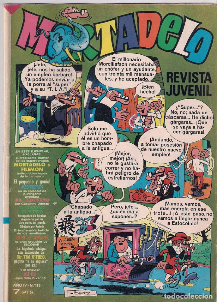 MORTADELO SEMANAL. Nº 113 (Tebeos y Comics - Bruguera - Mortadelo)