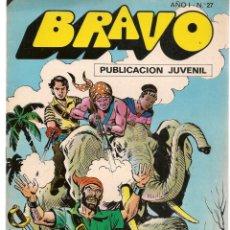 Tebeos: BRAVO. Nº 27. EL CACHORRO. Nº 14. BRUGUERA 1976. (C/A36). Lote 165403294