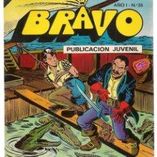 BDs: BRAVO. Nº 35. EL CACHORRO. Nº 18. BRUGUERA 1976. (C/A36). Lote 165403766