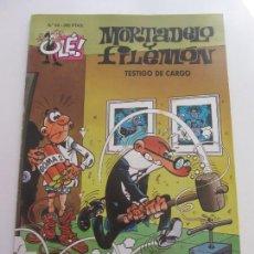 Tebeos: COLECCION OLÉ. MORTADELO Y FILEMON Nº 24 TESTIGO DE CARGO IBÁÑEZ EDICIONES B CS172. Lote 165874642