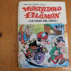 Tebeos: MORTADELO Y FILEMON LA CAZA DEL CACO LOMO ROTO. Lote 166028202