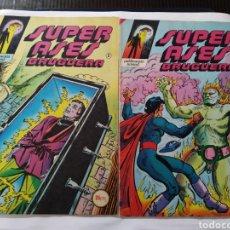 Tebeos: SUPER ASES BRUGUERA LOTE DE 5 N° 2-6-7-8-9 (BRUGUERA). Lote 166297188