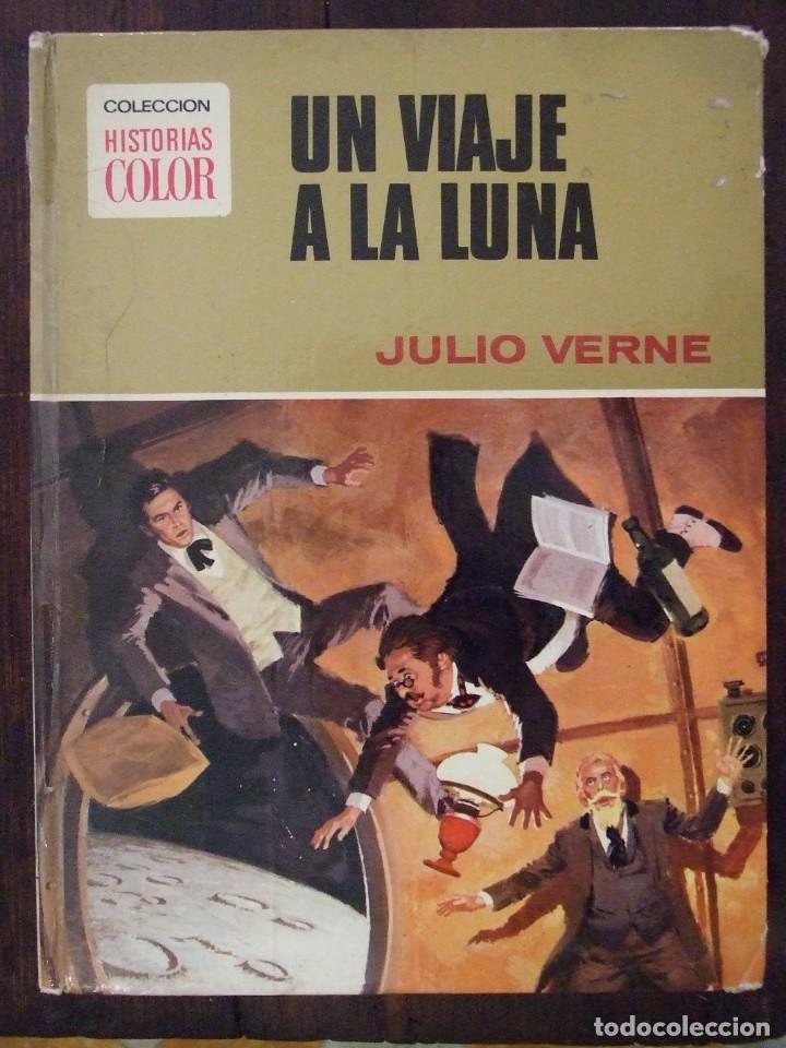 UN VIAJE A LA LUNA - Nº 9 JULIO VERNE - HISTORIAS COLOR - EDITORIAL BRUGUERA -1978 (Tebeos y Comics - Bruguera - Historias Selección)