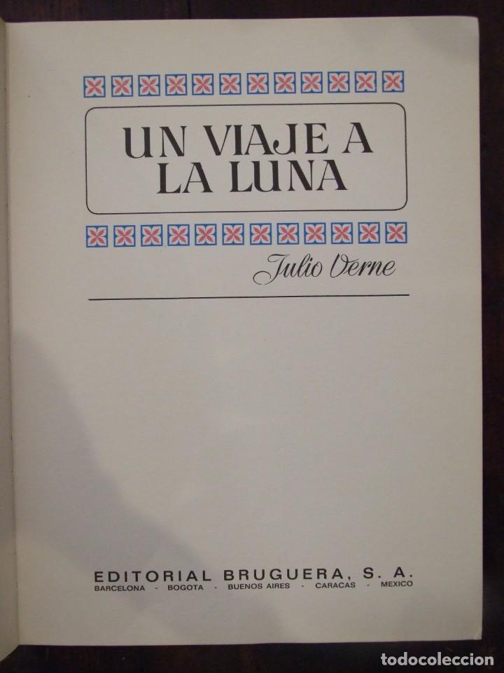 Tebeos: UN VIAJE A LA LUNA - Nº 9 JULIO VERNE - HISTORIAS COLOR - EDITORIAL BRUGUERA -1978 - Foto 2 - 166447838