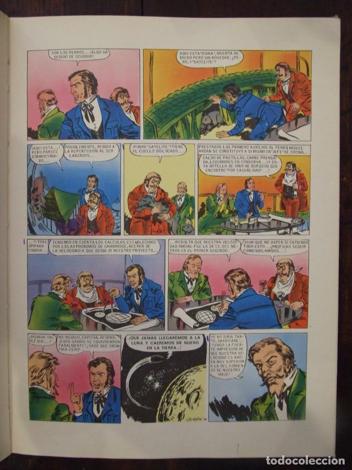 Tebeos: UN VIAJE A LA LUNA - Nº 9 JULIO VERNE - HISTORIAS COLOR - EDITORIAL BRUGUERA -1978 - Foto 3 - 166447838