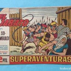 Tebeos: EL JABATO NUM 321 ¡EL SONÁMBULO! _LEY880. Lote 166833798