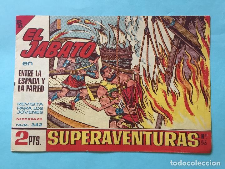EL JABATO NUM 342 ENTRE LA ESPADA Y LA PARED _LEY882 (Tebeos y Comics - Bruguera - Jabato)