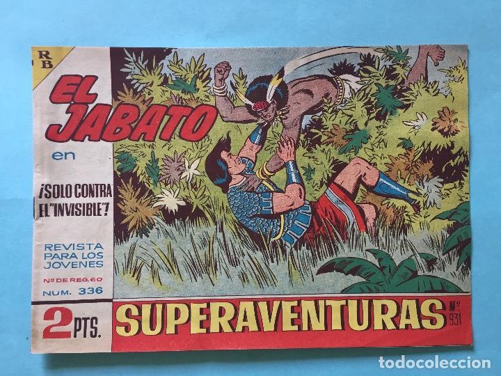 EL JABATO NUM 336 ¡SOLO CONTRA EL INVISIBLE! _LEY898 (Tebeos y Comics - Bruguera - Jabato)