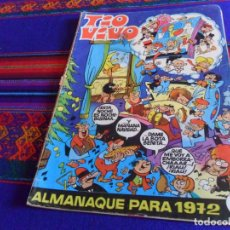 Tebeos: TIO VIVO ALMANAQUE 1972. BRUGUERA 16 PTS. REGALO TIO VIVO EXTRA VERANO 1970.. Lote 167668668