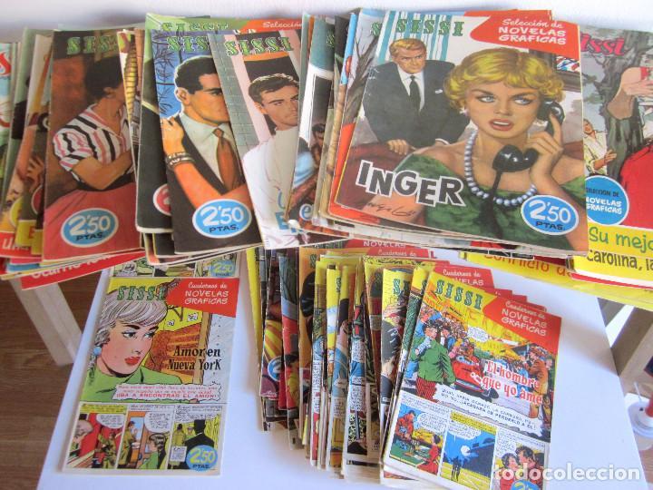 LOTE 105 NÚMEROS SISSI NOVELAS GRÁFICAS REVISTA FEMENINA EDITA BRUGUERA AÑOS 50 (Tebeos y Comics - Bruguera - Sissi)