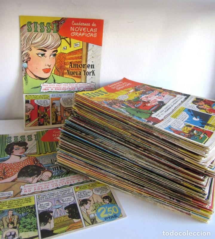 Tebeos: Lote 105 números SISSI novelas gráficas revista femenina edita Bruguera años 50 - Foto 3 - 167670036