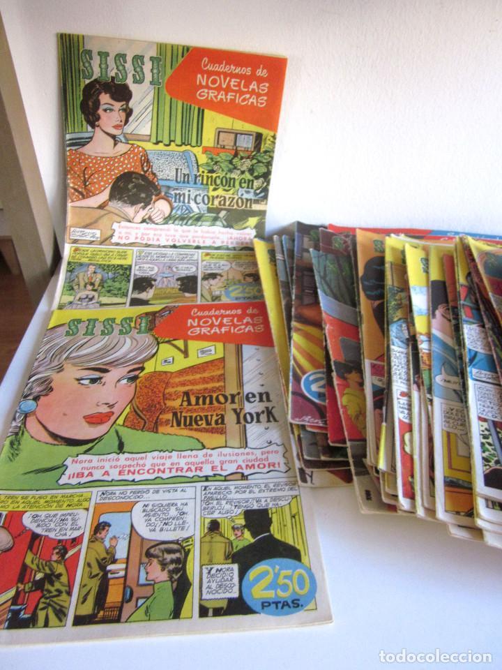 Tebeos: Lote 105 números SISSI novelas gráficas revista femenina edita Bruguera años 50 - Foto 6 - 167670036