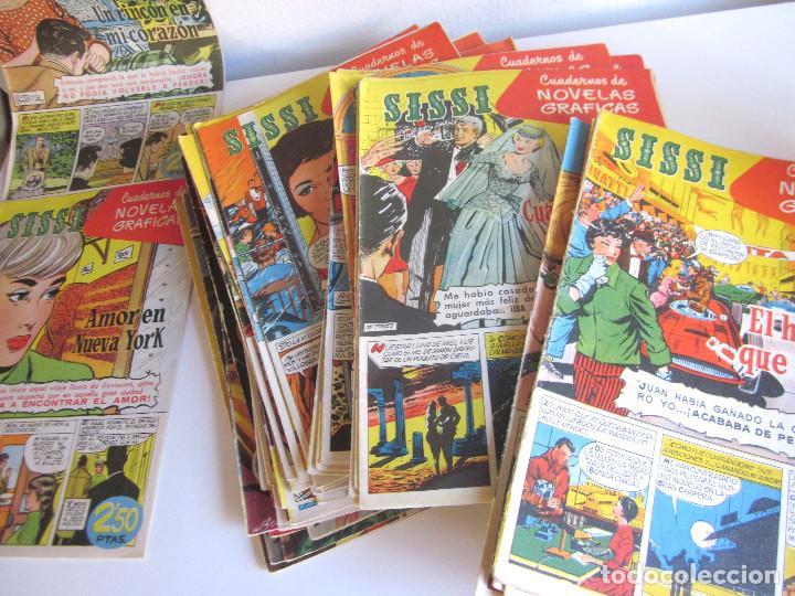Tebeos: Lote 105 números SISSI novelas gráficas revista femenina edita Bruguera años 50 - Foto 7 - 167670036