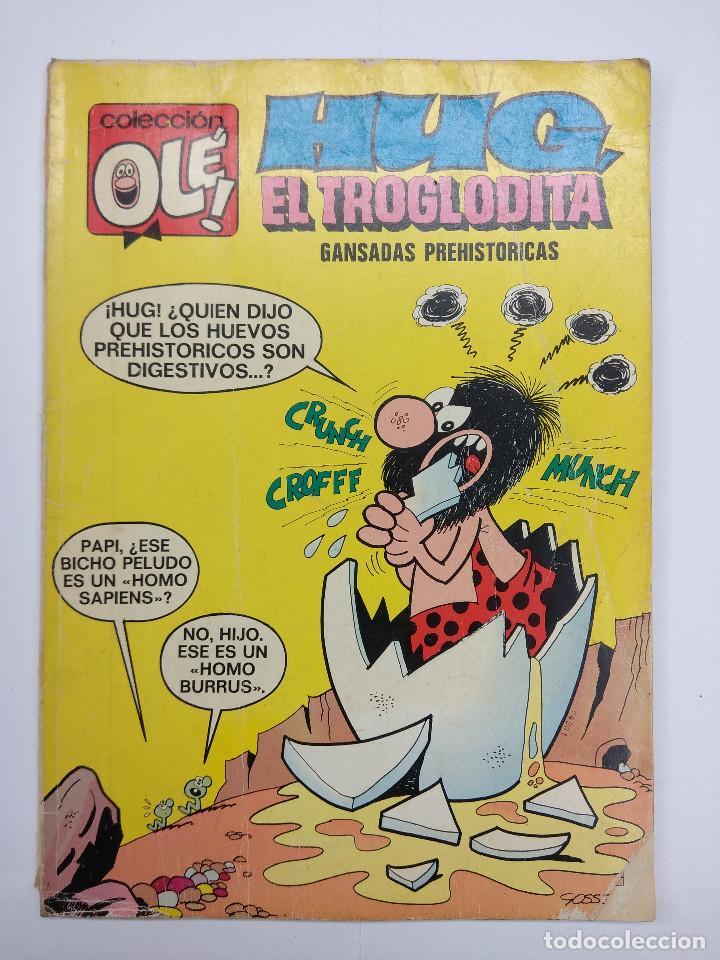 COLECCION OLE/HUG EL TROGLODITA Nº37 EN LOMO/EDITORIAL BRUGUERA 1971. (Tebeos y Comics - Bruguera - Ole)