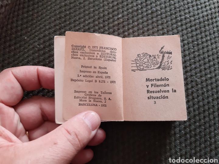 Tebeos: MORTADELO Y FILEMON RESUELVEN LA SITUACION PRIMERA EDICIÓN 1971 MINI INFANCIA - Foto 2 - 167977412