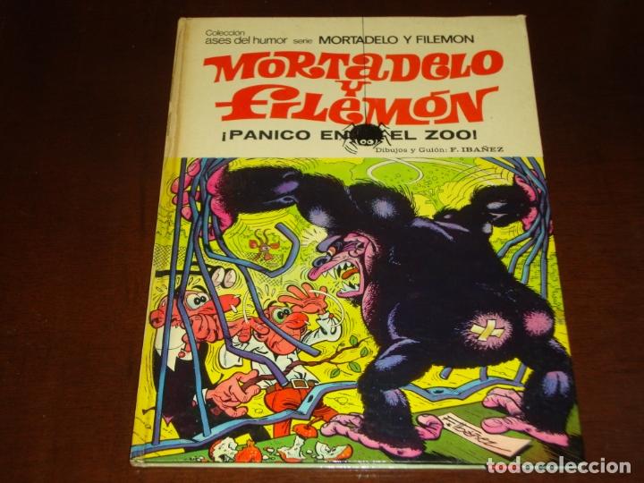 ASES DEL HUMOR MORTADELO Y FILEMON PANICO EN EL ZOO 1975 (Tebeos y Comics - Bruguera - Mortadelo)