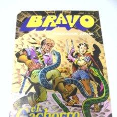 Tebeos: TEBEO. BRAVO AÑO I. Nº 19. PUBLICACION JUVENIL. EL CACHORRO. Nº 10. EL BARCO NEGRERO. Lote 168165832