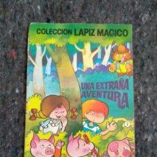 Tebeos: COLECCIÓN LÁPIZ MÁGICO Nº 2 - UNA EXTRAÑA AVENTURA - PORTADA DE JAN. Lote 168178340