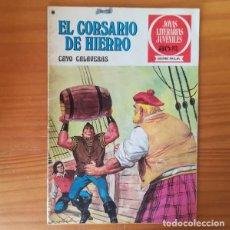 Tebeos: EL CORSARIO DE HIERRO 33 CAYO CALAVERAS. JOYAS LITERARIAS JUVENILES SERIE ROJA. BRUGUERA 1978 . Lote 168276868