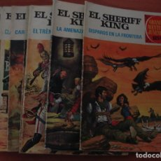 Tebeos: COLECCIÓN DE 7 TEBEOS DE EL SHERIFF KING. GRANDES AVENTURAS JUVENILES. BRUGUERA. Lote 169030560