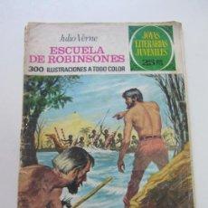 Tebeos: JOYAS LITERARIAS JUVENILES - Nº 108 - JULIO VERNE - ESCUELA DE ROBINSONES CX14. Lote 169164904